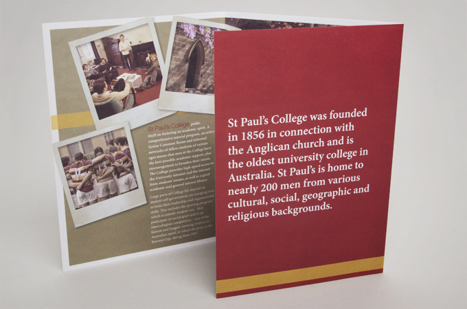 St Paul's College print and identity collateral