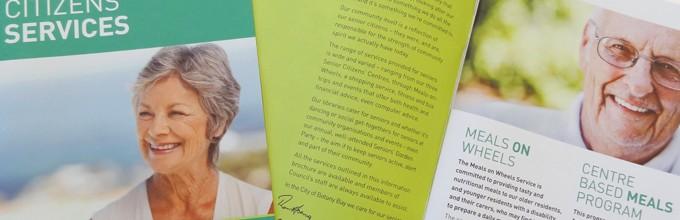 Senior Citizens' Services brochure